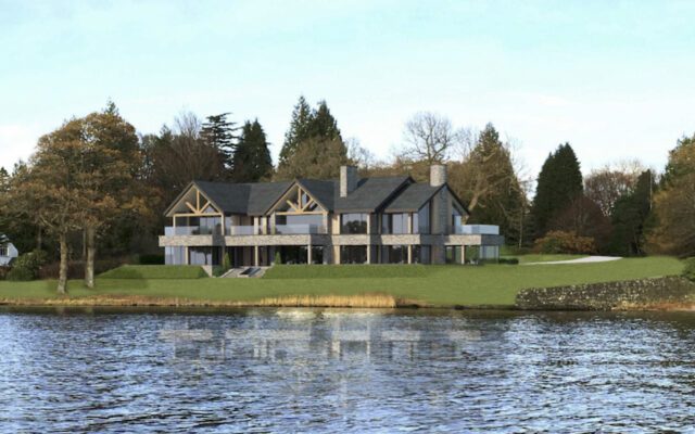 CGI of a Bespoke New Build Home Lake District
